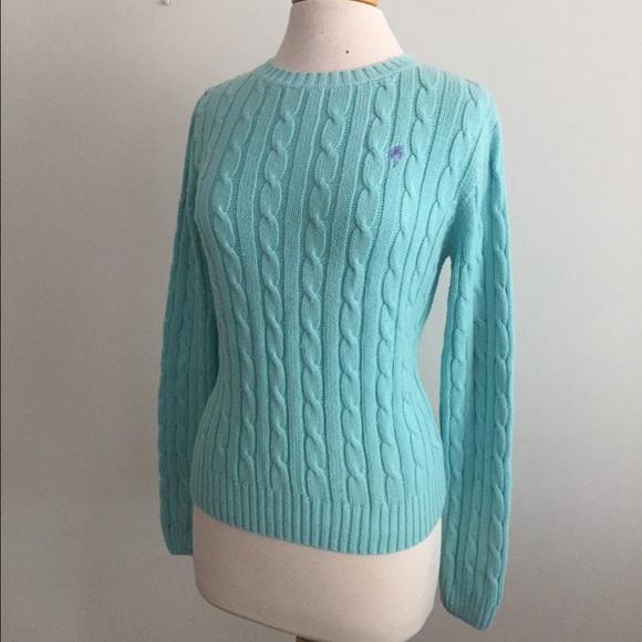 lilly pulitzer sweaters aqua light blue cableknit sweater poshmark